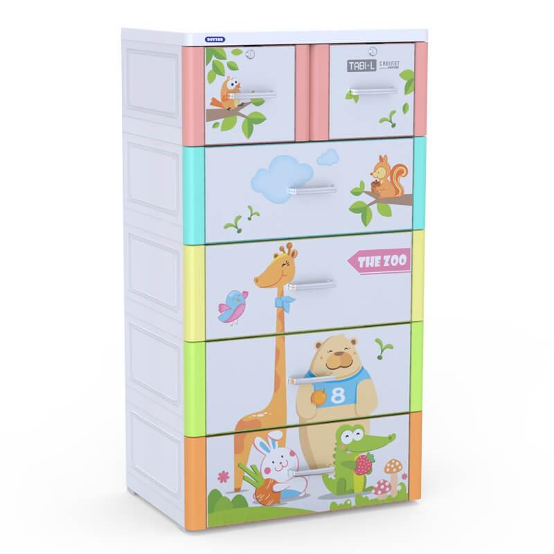 Thiết kế ấn tượng của chiếc tủ nhựa Duy Tân Tabi L 5 tầng